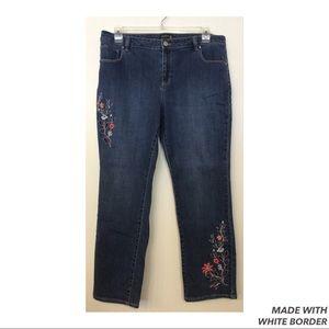 Susan Graver Jeans - Susan Graver Embroider Jeans